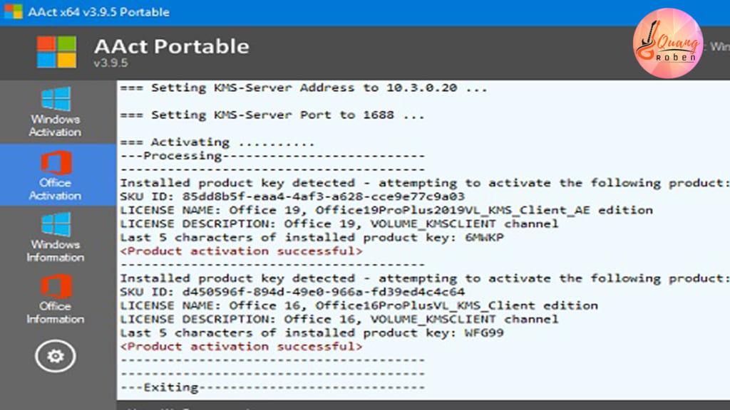 Nếu các bạn đã dùng office nhiều rồi thì chắc hẳn bạn đã biết đến phần mềm AACT Portable . AACT Portable  là một phần mềm nhỏ gọn dùng để bẻ khóa Windows bản quyền . Được các anh em trong nghề đánh giá rất cao vì công dụng vượt trội của nó . Phần mềm AACT Portable có các chức năng ngang ngửa so với Ratiborus KMS Tools và KMSpico . Dùng bẻ khóa với các tính năng đẳng cấp nhất với các phần mềm Active Win 10 và Active Office 2016 bạn nhé . Nếu bạn hỏi có cần cài .NET Framework như một số phần mềm khác để bẻ khóa hay không ??? . Thì câu trả lời là : không nhé . Bẻ khóa được các loại win 7/8/8.1/10 cực kỳ đơn giản nhanh gọn . Cộng thêm bẻ khóa Office 2007/2010/2013/2016 bạn khỏi phải nghĩ suy vì quá giản đơn . Với 4 nút điều khiển, bạn có thể kích hoạt nhiều chức năng khác nhau bạn nhé .